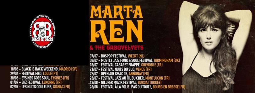 Concierto de Marta Ren & The Groovelvets en Madrid