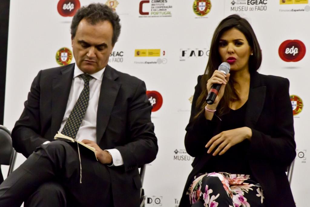 Embajador de Portugal en España y Cuca Roseta