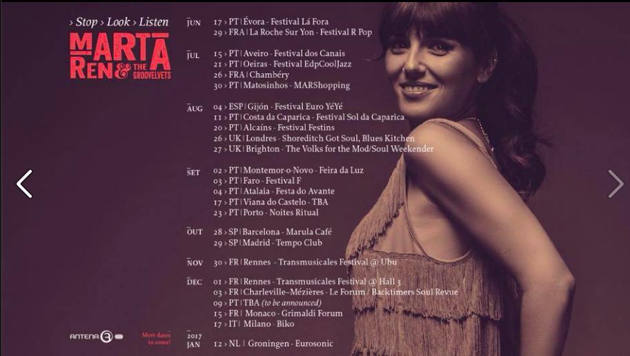 Nuevas fechas de Marta Ren España
